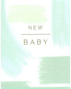 New BABY Card - Mint Brushstrokes