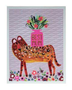 MUM Card - Best Mum (Leopard)