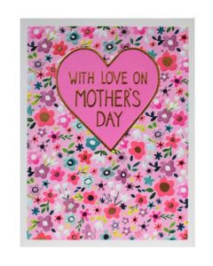 Mother's Day Card - Heart & Flowers