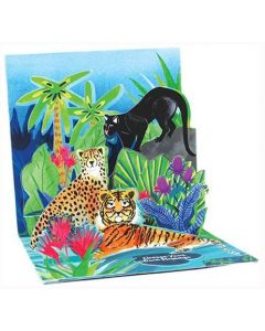 3D Pop-Up Card - Jungle Cats