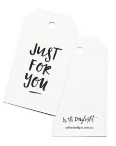 Gift tag - 'Just for you'