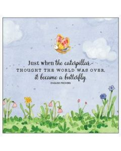 Just when the caterpillar..... Greeting Card
