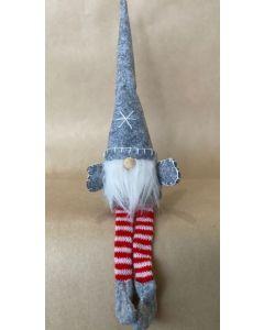 Cute long-legged Santa in grey hat