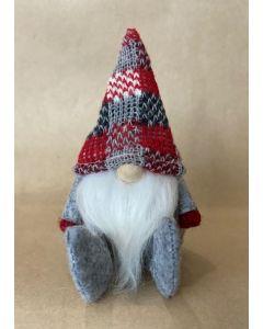 Cute SANTA with grey feet & knit hat