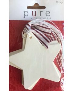 Gift Tags - Cream STAR (10 tags)
