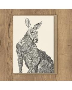 Red Kangaroo Card