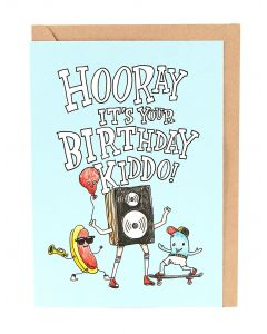 Hooray It's Your Birthday Kiddo Card
