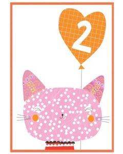 '2 Cat' Card