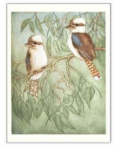 Greeting Card - Laughing Kookaburras by Joseph Austin