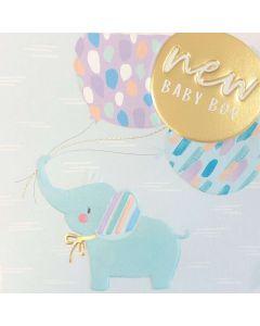 BABY Boy - Blue elephant & balloons