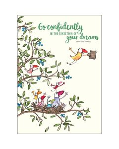 """""""Go confidently in the direction of your dreams"""" BIG Card"""