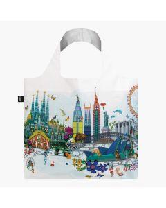 Foldable & Water Resistant BAG - World Skyline by Kristjana Williams