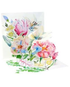 3D Pop-Up Card - Watercolour Bouquet