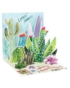 3D Pop-Up Card - Cacti Birthday