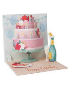 3D Pop-Up Card - Layered Birthday Cake