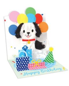 Birthday Puppy Balloons - 3D pop-up card