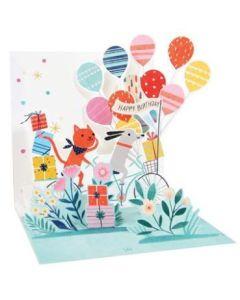 3D Pop-Up Card - Dog & Cat Birthday