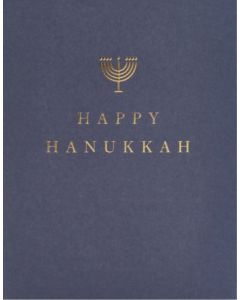 HANUKKAH Card - Gold Menorah