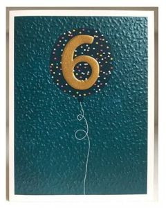 Age 6 Birthday - Gold 6 Balloon