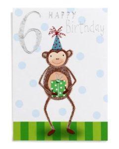 AGE 6 - Monkey in party hat