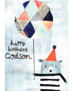 Godson Birthday - Bear & Balloon