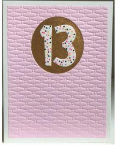 AGE 13 - Spotty 13 on pink