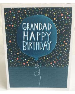 Grandad Birthday - Blue balloon
