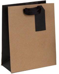 Gift Bag - Kraft with Black Trim