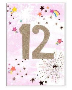 AGE 12 - Gold 12 & rainbow stars