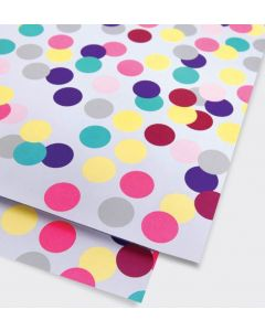 Folded Wrapping Paper - Large Confetti Spots