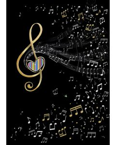 Music clef card