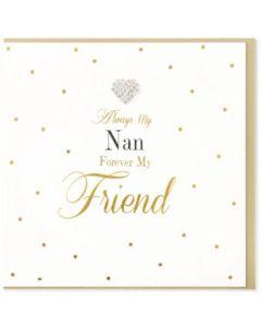 NAN - Diamante heart 'Forever my Friend'