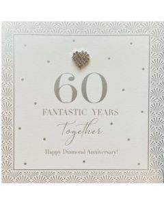 DIAMOND ANNIVERSARY Card - 60 Fantastic Years