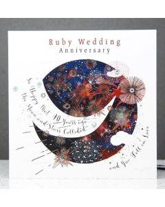 Ruby Anniversary - Moon & Stars