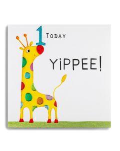 AGE 1 Card - Yippee! (Giraffe)