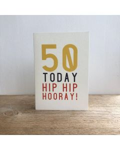50th Birthday Card - Hip Hip Hooray