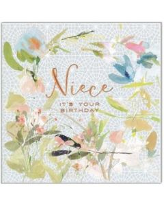 NIECE Birthday Card - Floral