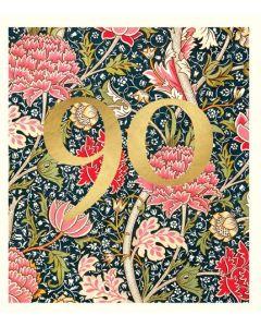 AGE 90 - Gold 90 on foliage - William Morris