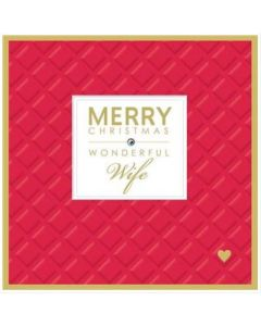Christmas Card - 'Wonderful WIFE'