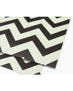 Salone black & white - folded wrapping paper