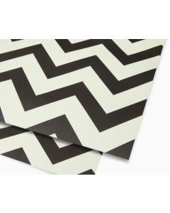 Folded Wrapping Paper - Black & White Zig Zag