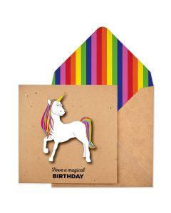 Birthday card - Magical Unicorn