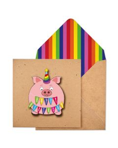 Birthday card - Party PIG