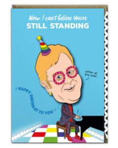 Birthday - Elton John  '..still standing' Card