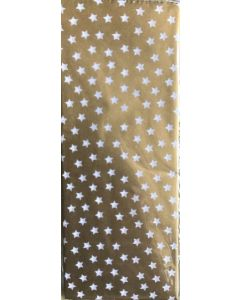 Tissue Paper - Stars on Gold (4 Sheets)