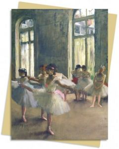Card - The Rehearsal by Edgar Degas