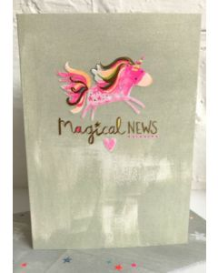 Magical News - Pink Unicorn Card