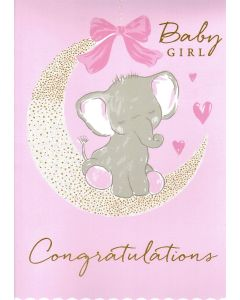 BIG Card - BABY GIRL Congratulations