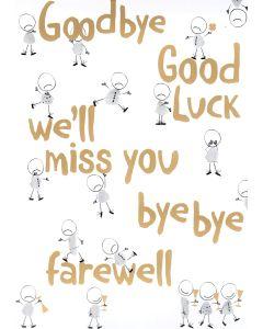 BIG Card - We'll Miss You (Sad People)
