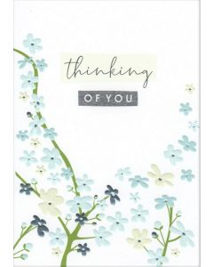 THINKING OF YOU Card - Blue Blossom